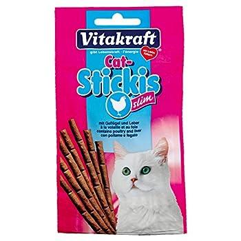 Vitakraft - Friandises Cat Sticki's Slim à la Volaille et Foie pour Chats - x12