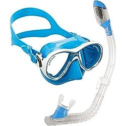 Cressi - Marea Junior Masque de Plongée Enfant 6-13 Ans + Minidry Tuba Snorkeling Plongée Enfant