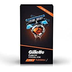 Gillette Flexball Pro Glide Gift Pack -Flexball Razor with 4 Flexball Cartridge Save Rs 499