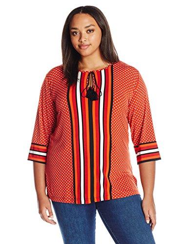 jones-new-york-womens-plus-size-diamond-stripe-print-mix-tunic-mandarin-multi-3x
