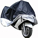 Motorcycle Motorbike Waterproof UV Protective Breathable Cover (XXL, black/si...
