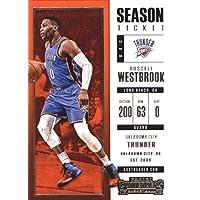 2017–18Dépasse Panini Season Ticket # 51Russell Westbrook Oklahoma City Thunder Basketball carte