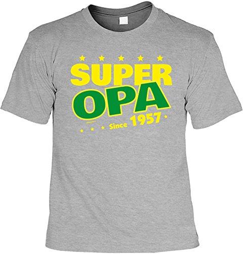 Cooles Tshirt Zum 60 Geburtstag Super Opa Since 1957 Geschenk 60