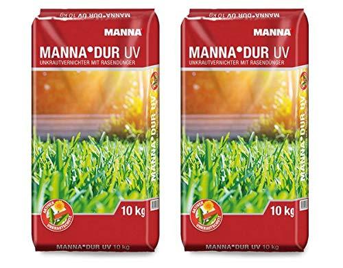 MANNA DUR Rasendünger mit UV 20 kg - ein NPK-Dünger mit Carbamidstickstoff, ein Langzeitdünger