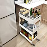 Storage rack. Küchenwagen, Lagerregal Gewürzregal, dreischichtiger mobiler Bodengemüsekorb, Blumenregal, Bücherregal
