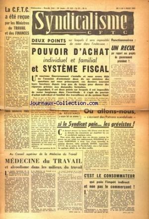 SYNDICALISME CFTC [No 512] du 03/03/1955