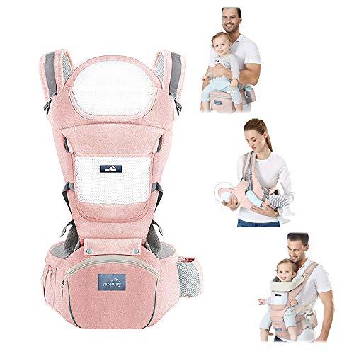 Safeway Marsupio Porta Bambino Porta Bebè Ergonomico 0 36 Mesi di Cotone 10 Tipi di Seduta Zaino Con Borsa Cintura e Supporto per la Testa Regalo