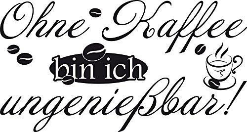 graz-design Wandtattoo für Küche   Wand-Spruch Kaffee   Küchen-Tattoos für Deine Küchen-Wände und Schränke   Für Esszimmer (75x40cm//070 schwarz)