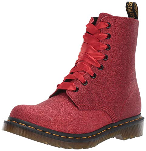 7c88719ca0a Dr.Martens 1460 Pascal Glitter 24839602 Glitter Pu Synthetic Womens Boots -  Red - 6