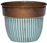 Robert Allen Home & Garden mpt01568Bella Classic Übertopf, 15,2cm Streifen/kupfer
