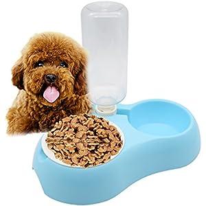 topeur Pet zum Aufhängen abnehmbarer Käfig Edelstahl Lebensmittel Wasser blau Schalen für Hunde Katzen kleine Tiere