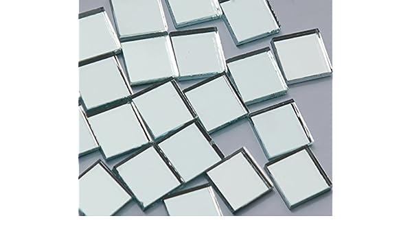 200g. 45 St/ück Spiegelmosaik Buntmix 20x20mm ca