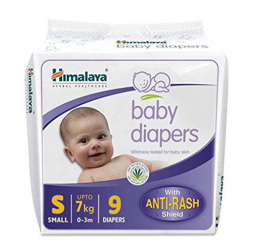 Himalaya Herbals Baby Taped Diaper -(Small_White_Pack of 4)