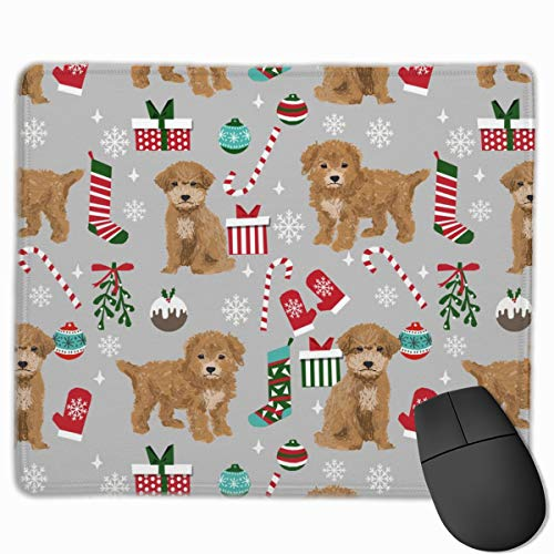 Breed Christmas Stockings Pet Lovers Holiday Grey_30534 Mouse pad Custom Gaming Mousepad Nonslip Rubber Backing 9.8