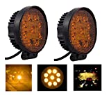 #4: A2D RND Auxiliary 9LED Bike Yellow Fog Light Set Of 2 Units-Hero Glamour