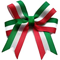 Italian Flag hair bow, great gift for Italy Holiday or Italian Girl