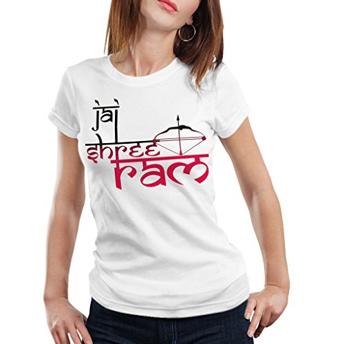Navratri Special 4(Jai Sri Ram Bow-Arrow) Women Sports Wear T-Shirt by iberrys  available at amazon for Rs.399