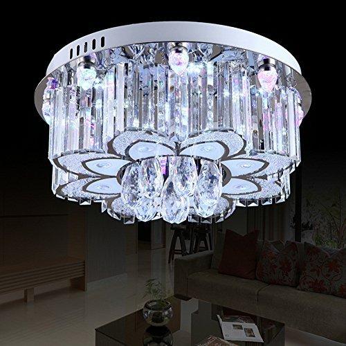 QAZ Plafonnier Led moderne, salle de séjour lampe LED Chaleur ronde Chambre de maître romantique plafond lumineux