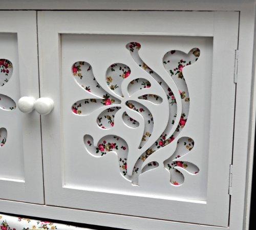 Country House Dresser disimpegno mobiletto del bagno 60 x 73 cm Mensola credenza con legno decorazione intaglio - 3