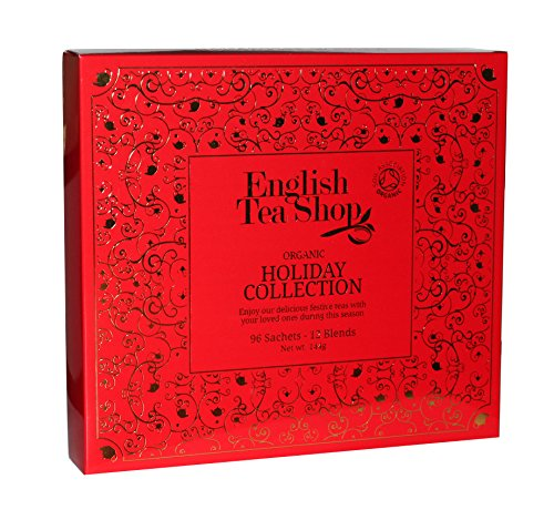 English Tea Shop - Holiday Collection Red Gold Tray - 96 Sachets - 144g