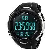 OdeJoy Elektronisch Uhren Luxus Männer AnalogDigital Militär Sport Wasserdicht HandgelenkUhr Fashion Smart Watches Herrenuhren Edelstahl Uhren Elektronisch Armbanduhren (Weiß,1 PC)