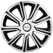 Michelin 92014 Set de tapacubos Louise con sistema reflector N.V.S., set de 4 piezas, 38,10 cm, 15 pulgadas, plateado /negro