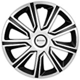 Michelin 92014 Radzierblenden Louise mit Reflektorsystem N.V.S, 4-er Set, 38.10 cm, 15 Zoll, Silber/Schwarz