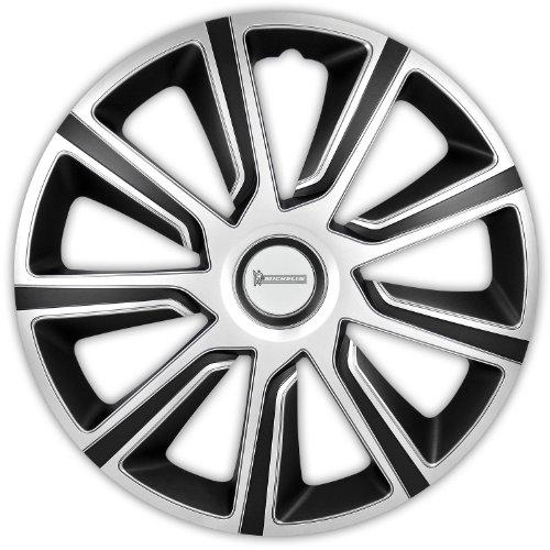 Michelin 92014 Copricerchi Louise con sistema riflettente N.V.S., set da 4, 38.10 cm, 15'', argento/nero