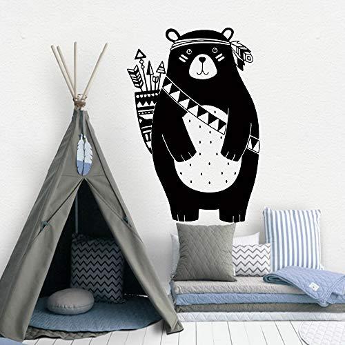 Schöne Tribal Bear Vinyl Wandaufkleber Für Kinderzimmer Dekoration Babys Jungen Schlafzimmer Dekor Wandbilder Wandaufkleber Für Kind e2 43x63 cm - E2-schaum