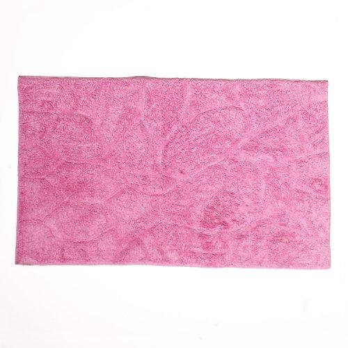 Sancarlos - Alfombra de baño stone lila - algodón 100% - 50x80 cm - lila