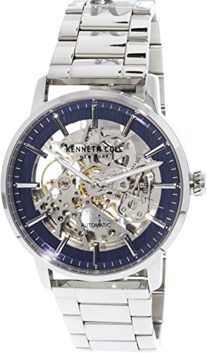 Kenneth Cole Men's KC50112005 Silver Stainless-Steel Automatic Fashion Watch