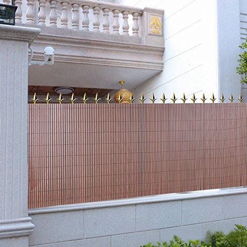songmics pvc canniccio frangivista marrone 90 x 400 cm gpf094b. Black Bedroom Furniture Sets. Home Design Ideas