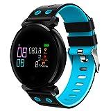 Wawer K2 Smart WatchFarbbildschirm Herzfrequenz Blutdruck Sport IP68 Smartwatch für IOS Android (Blau)