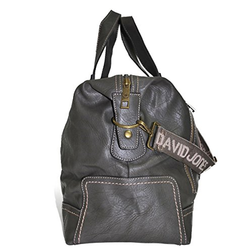 Borsa da viaggio unisex David Jones, Grigio tortora (Multicolore) - mp-5722_302 Gris Foncé