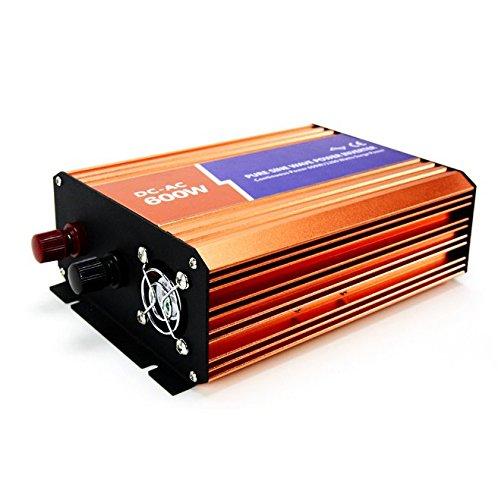 mabelstar 600W Power Inverter 24VDC 230VAC Peak Power 1200W netzferne reiner Sinus Wechselrichter - 600 600w Power Inverter