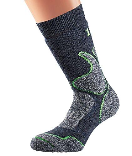 1000 Mile Herren 's 4Season Walking Socken–Schiefer, Medium/Größe UK 6–8,5 (Nylon-wolle-zehen-socken)