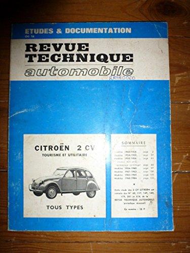 RRTA0060 - REVUE TECHNIQUE AUTOMOBILE CITROEN 2CV