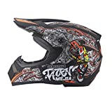 LouiseEvel215 Casco Cross-Country del Four Seasons Casco da Cross-Bike Casco Integrale da Mountain Bike Casco Downhill Ghost Claw Multicolore