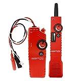 Underground Cable Tracker Detector Tester para bajo voltaje con función de polaridad, Anti-jamming, Localizador de cables, Localice alambres para mascotas, Tubos de metal, Cables eléctricos, Cable coaxial BNC - 220V