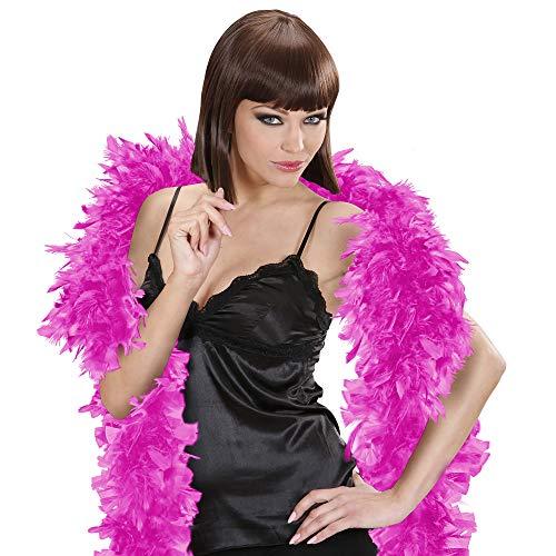 Widmann - Federboa / Federschal  Classic - Feder Boa für 20er Jahre Party, Karneval, Fasching, Charleston , Varieté - ca. 180 cm lang  - ca . 50 - Der Joker Kostüm Classic