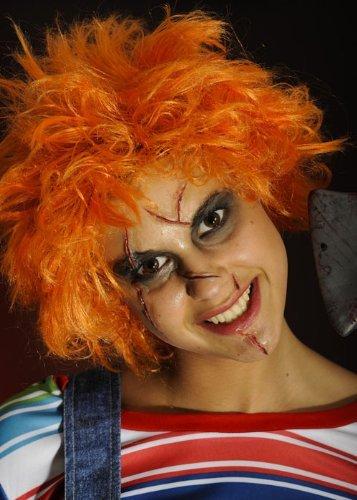 Erwachsene Halloween Orange Chucky Perücke