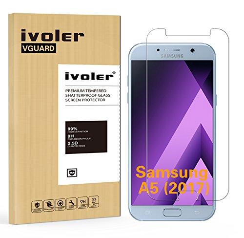 iVoler Pellicola Vetro Temperato per Samsung Galaxy A5 2017 Protezione Antigraffi, Vetro con Durezza 9H, Spessore di 0,2 mm, Bordi Arrotondati da 2,5D - Garanzia a Vita