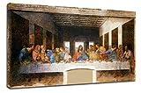 Bild Kandinsky - Das letzte Abendmahl - Leonardo da Vinci - Leinwanddruck auf Leinwand mit oder ohne Rahmen - wählen Sie die gewünschte Größe von - cm 50 bis 130 cm Breite (DRUCKEN AUF CANVAS (OHNE RAHMEN), CM 90X50)