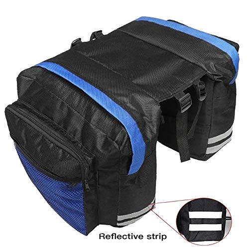 YAOBAO Fahrradträgertasche, 13-L-Fahrradtasche, wasserdichte Reflektierende Seitenverkleidung Mit Schnellverschluss Und Taschen, Fahrradtasche Für Die Rückbank, Schwarz