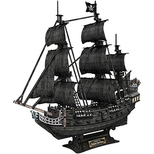 """Cubic Fun - Puzzle 3D Barco pirata """"La Venganza de la Reina Anne"""", 308 piezas (T4018h)"""