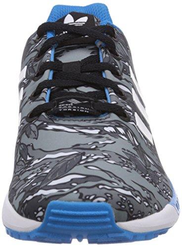 Adidas M19397, Chaussures de Running Garçon Gris - Grau (Core Black/Ftwr White/Solar Blue2 S14)