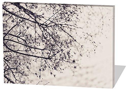 Gestrüpp, Gemälde Effekt, schönes und hochwertiges Leinwandbild zum Aufhängen in XXL - 100cm x 70cm, echter Holzrahmen, effektiver Pigmentdruck, modernes Design für Ihr Büro oder Zimmer