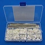 Raogoodcx 600Pcs 2,54mm JST-XHP 2/3/4/5 Stiftgehäuse und Stecker / Buchse Stift Kopf Stecker Adapter Stecker Set