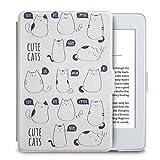 WALNEW Hülle für Kindle Paperwhite,Leichteste und Dünnste Schutzhülle Tasche für Kindle Paperwhite mit Automatischer Aufwach/Ruhe-Funktion – Nicht geeignet für Modelle der 10. Generation (2018),Katze