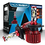 NOVSIGHT H4 LED Headlight Bulbs All-in-One Conversion Kit Hi&Lo Beam 6500K Cool White